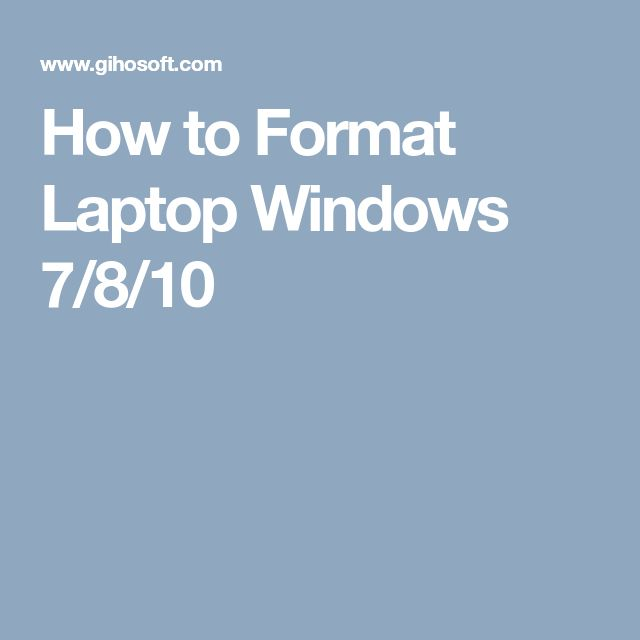 How to Format Laptop Windows 7/8/10 #windowslaptop