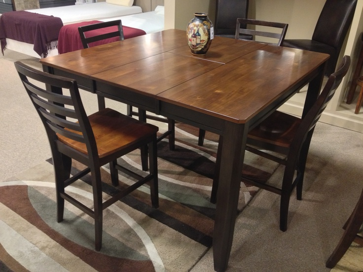 Alonzo 5 Piece Dining Set Includes DRM Counter Butterfly EXT Table Barstool X 4