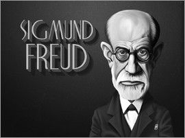 Rob Snow | caricatures - Sigmund Freud art | decor | wall art | inspiration | caricatures | home decor | idea | humor | gifts