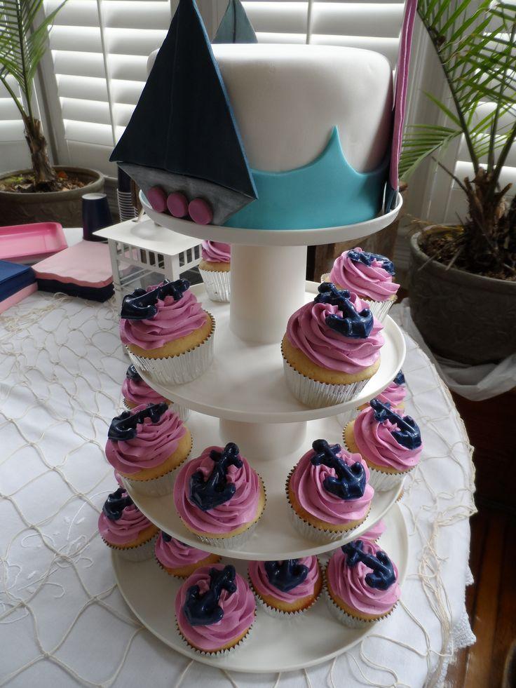 Nautical Baby Girl Shower Baby Shower Cakes Baby Shower