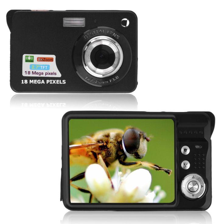 2.7 ''TFT LCD HD 720 P 18MP Cámara de 8x Zoom Digital Anti-shake