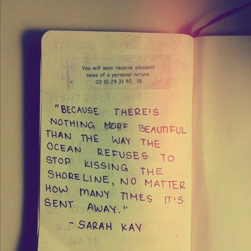 KissesThoughts, Sarah Keys, Spoken Words, Sarah Kay, The Ocean, True Love, Love Quotes, Ocean Quotes, Sarahkay