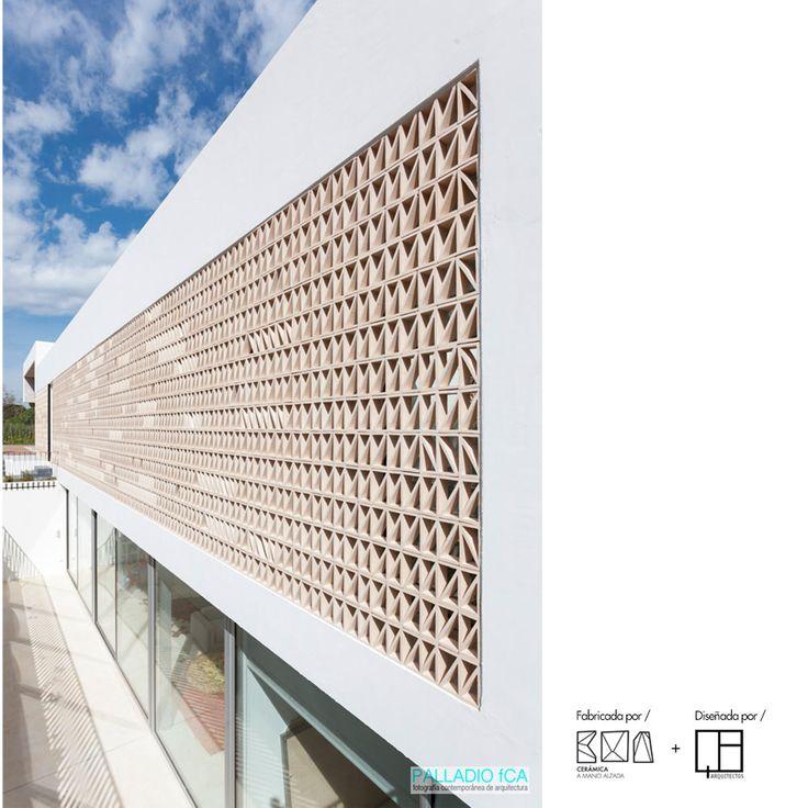 Celosía cerámica natural arena ACUS 18x18x7cm | Ceramica a Mano Alzada Shop