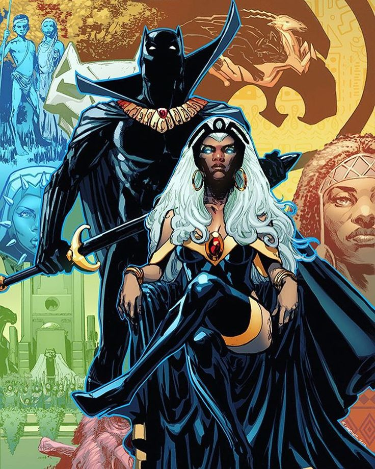 Black Panther And Storm By Phil Jimenez