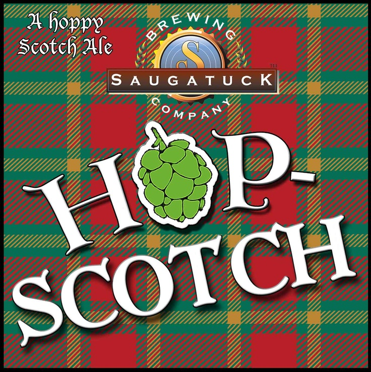 Saugatuck Brewery Hop Scotch Ale... Prepare to get yer kilt all twisted up! A big, malty, seriously great ale. This flavorful scotch ale is a part of our Brewer's Reserve series and has limited release dates. AVAILABLE NOW!  8% ABV and 93 IBUs.
