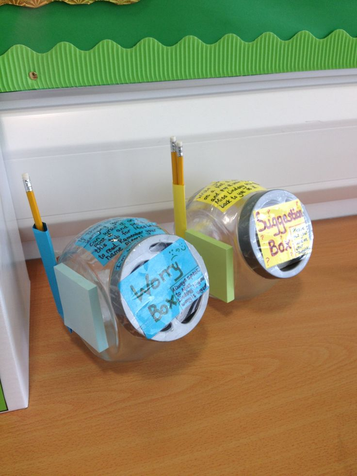 Worry box and suggestion box for the classroom- students can drop notes at  any time and I'll take time to read them and help out.
