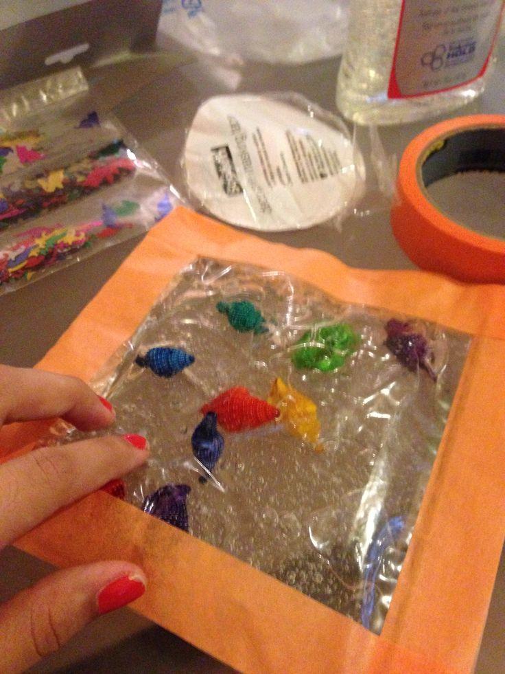 DIY sensory bag  Gel Tape Zip lock bag