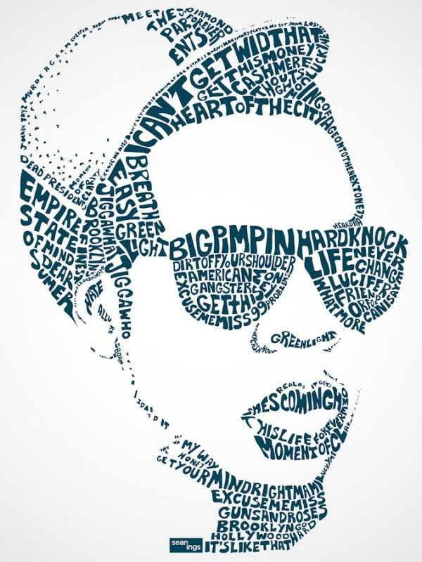 Famous Typography Portraits of Song Lyrics (3)