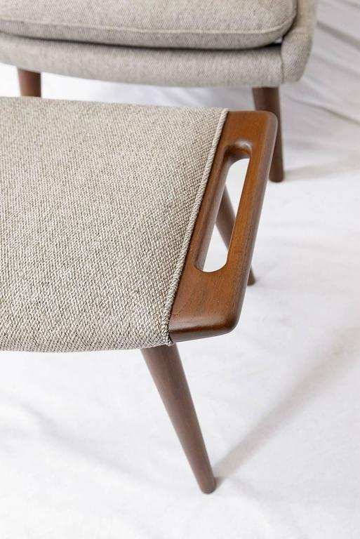 "Hans Wegner ""Papa Bear"" Chair and Footstool 10"