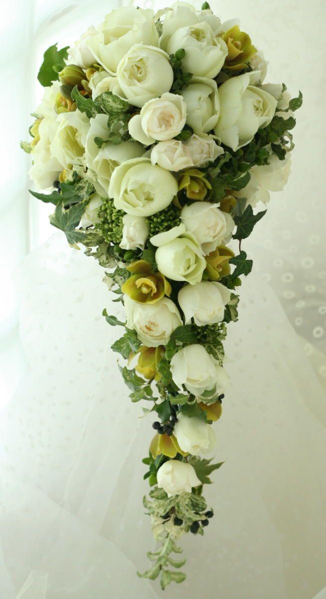 ブーケ キャスケード : 一会 ウエディングの花