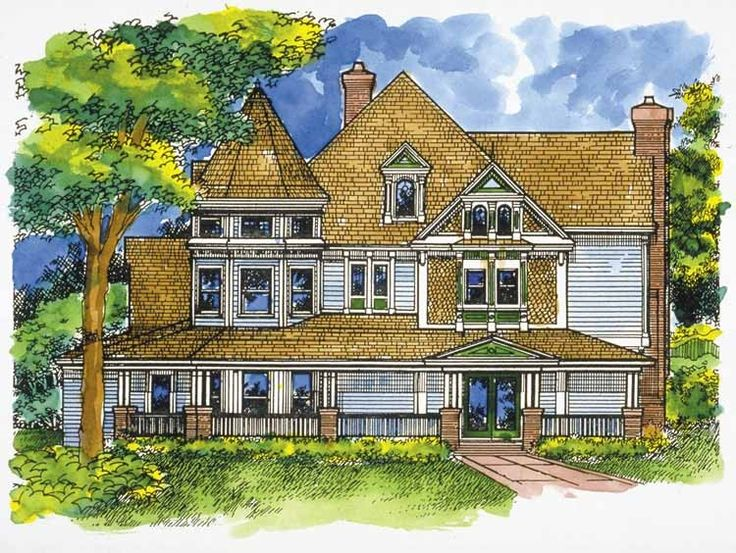 Victorian Cottage Plans Queen Anne Victorian Houses Country Farmhouse Victorian