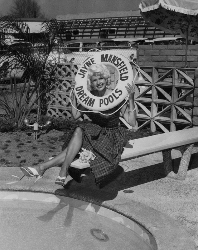 Jayne Mansfield in Van Nuys, CA March 30, 1959 - San Fernando Valley Relics Collection