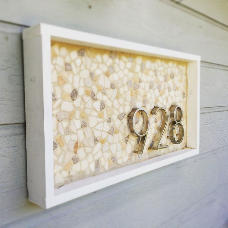 DIY House Number Plaques