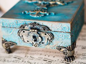 my altered box with patina efects