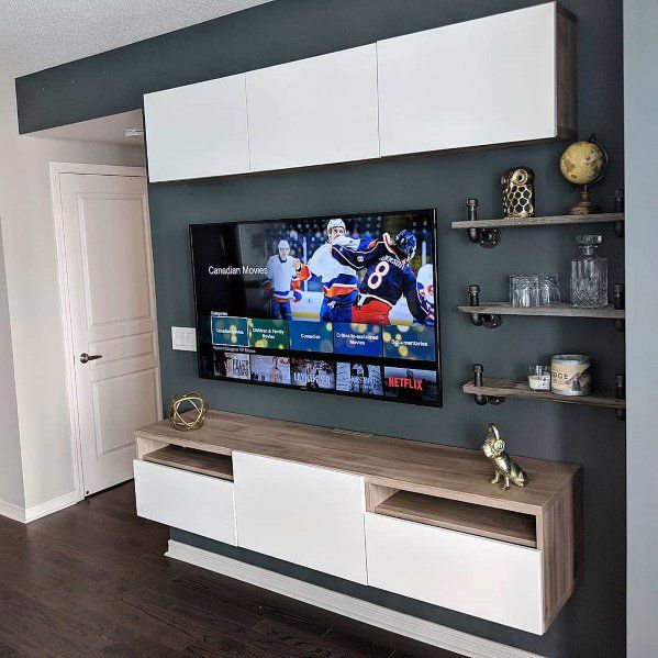 Top 70 Best Tv Wall Ideas Living Room Television Designs Living Room Tv Living Room Tv Wall Television Wall