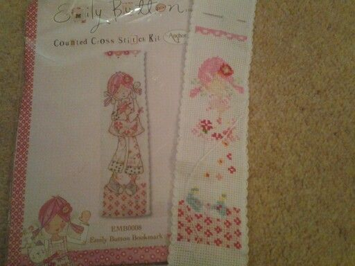 This adorable bookmark is going to be for me! #cute #embroidery #bookmark