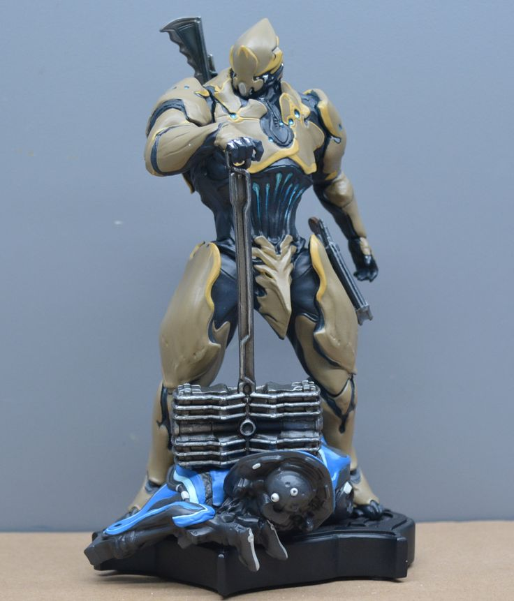Warframe Rhino Statue Figures Warframe Art