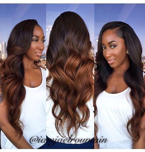 Ombre Hair Extensions Brazilian Remy Hair Body Wave T1B-30 http://www.shorthaircutsforblackwomen.com/best-weave-for-natural-hair