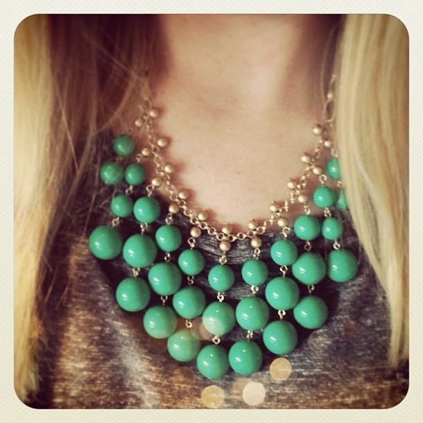Jolie Necklace (Green Caroline Channing?) Instagram | Stella & Dot