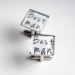Manžety čtvercové Best man #bestman #wedding #cuffs #cufflinks #handmade #crystal #resin #love #lovemywife #wife #svatební #manžety #knoflíčky #designempathy