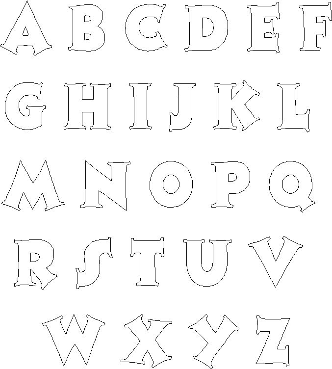 The 25+ best Alphabet templates ideas on Pinterest Letter - numbers templates free