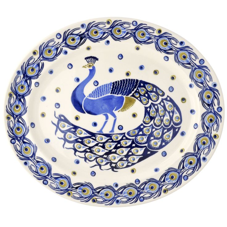 Peacock Large Platter