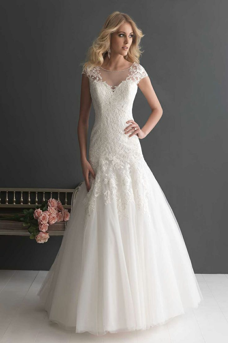 Maybe not for my body, but cap sleeves and illusion neckline and lace... Lots of my wish list on one dress!