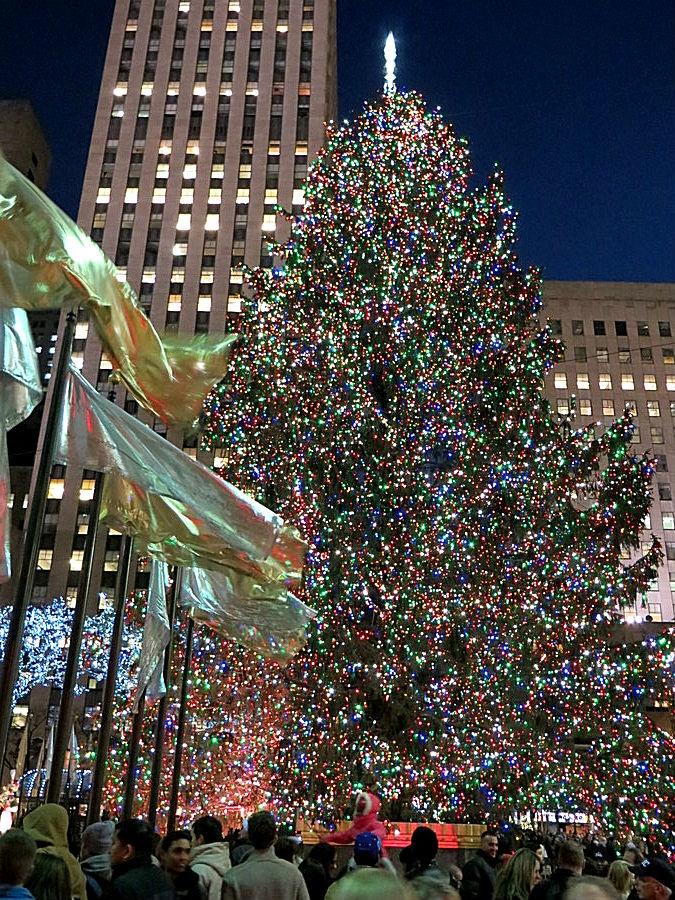 Christmas tree in Rockefeller Center, New York City. December 14, 2012.