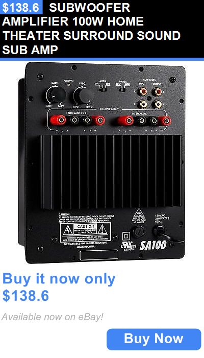 Home Audio: Subwoofer Amplifier 100W Home Theater Surround Sound Sub Amp BUY IT NOW ONLY: $138.6