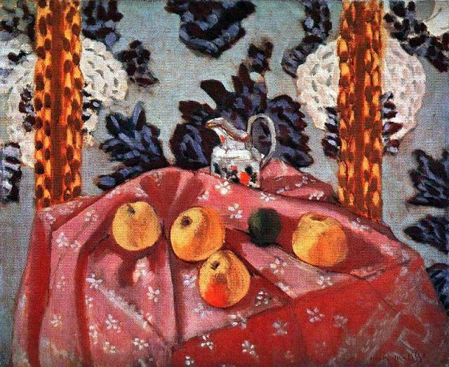 Still Life with Apples on a Pink Cloth, 1925.  Óleo sobre lienzo.  The National Gallery of Art. Washington. USA.