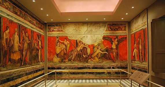Ancient pompeii on pinterest roman paintings roman art for Ancient mural villa