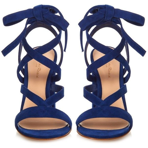 451a69e6aaa Gianvito Rossi Janis suede sandals ( 660) ❤ liked on Polyvore featuring  shoes