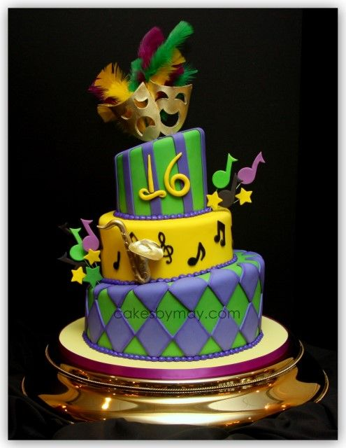 58 Best Mardi Gras Cakes Images On Pinterest Cake Ideas Conch