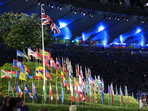 Flags of the World Fly in London