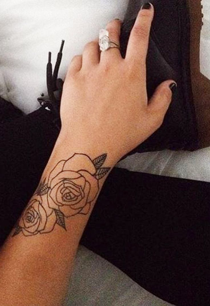 Black Rose Forearm Tattoo Ideas For Women - Mybodiartcom -8089