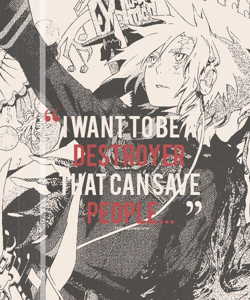 I want to become a destroyer that can ruin people sadness ★