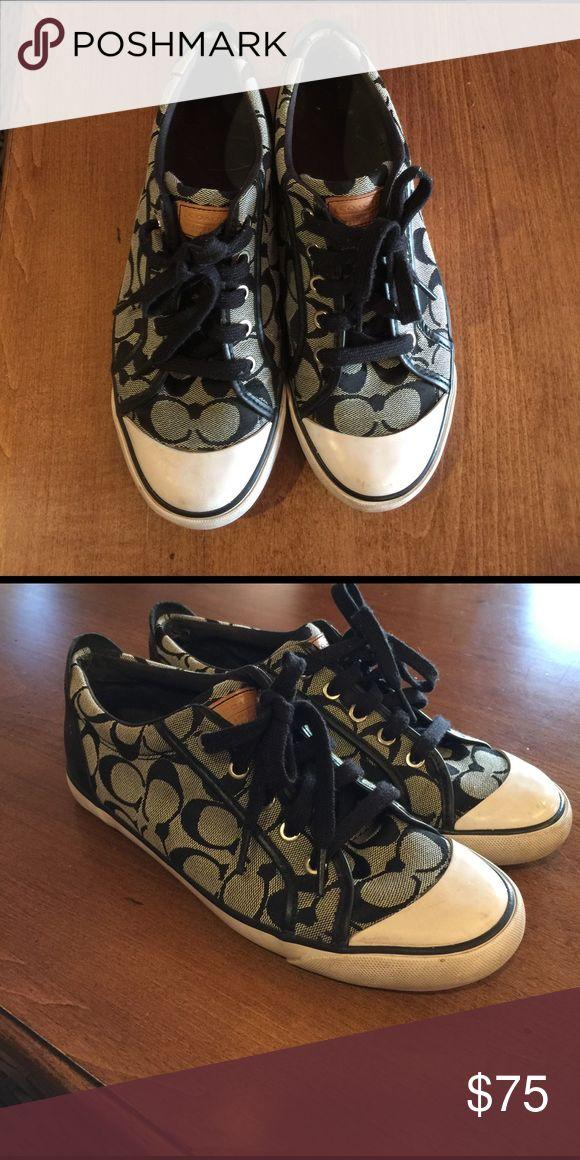 black coach tennis shoes black coach tennis shoes. worn, but taken care of. Coach Shoes Sneakers