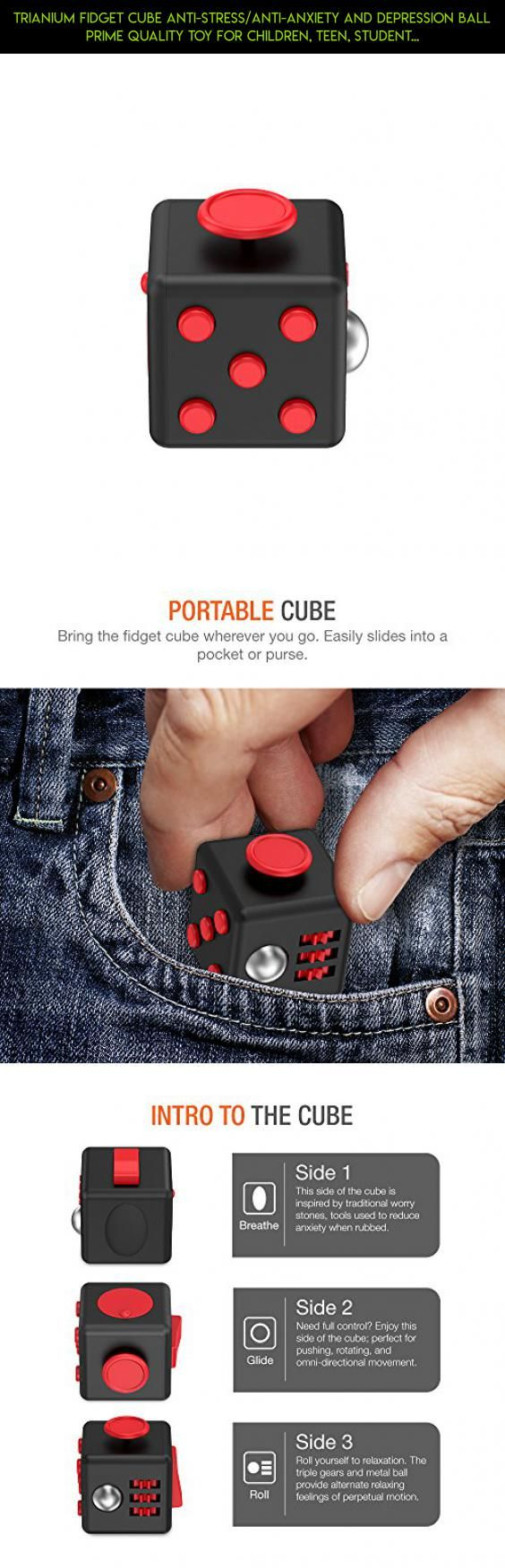 Trianium Fidget Cube Anti-Stress/Anti-anxiety and Depression Ball Prime Quality Toy for Children, Teen, Student, Adult [Easy Carrying] Finger Dice Stress Reliever for Work, School, Class (TM000121) #tech #gadgets #cube #fpv #shopping #camera #fidget #products #kit #plans #parts #racing #drone #technology
