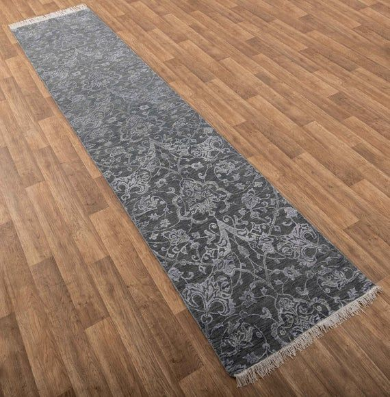 2 8x11 11 Ft Runner Area Rug Handmade Wool Silk Runner Rug 9021 In 2020 Area Rugs Handmade Rugs Rugs