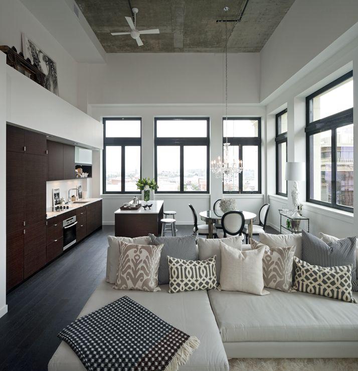 Loft living space in The Hudson #HudsonDistrict