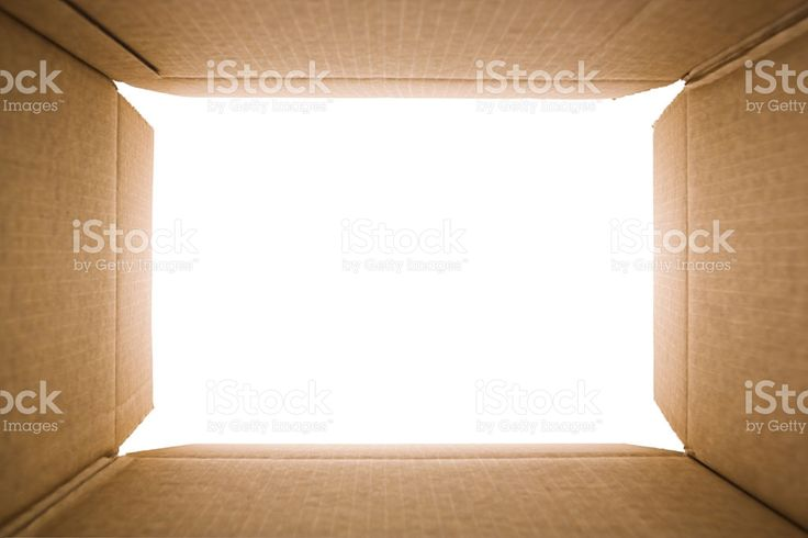 View from inside of a cardboard box royalty-free stock photo