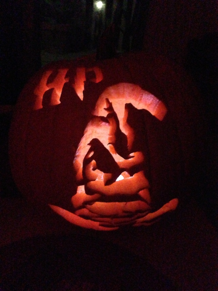 My Harry Potter/ Sorting Hat Pumpkin carving 2012