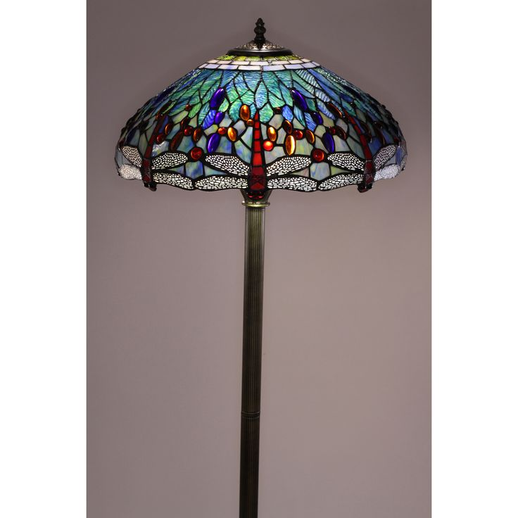 Tiffany Style Dragonfly Floor Lamp | Overstock.com Shopping   The Best  Deals On