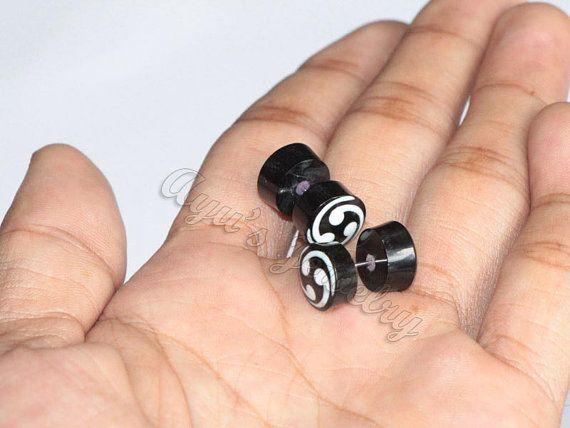 Organic Black Horn Small #FakeGauge / #FakePlugs by #ayujewelry, $9.50