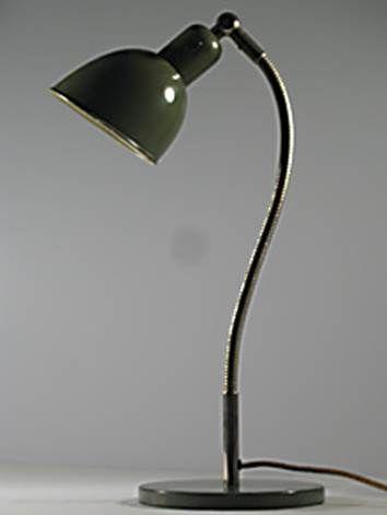 Christian Dell, ca 1929/1930 bauhaus; Arbeitsleuchte für Belmag, Zürich Schwanenhals Leuchte   originqal vintage desklamp swiss industrial design retrodesign.ch