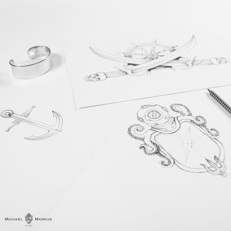The design process of Michael & Markus jewelry. MARITIME The ocean is waiting to be explored and tamed