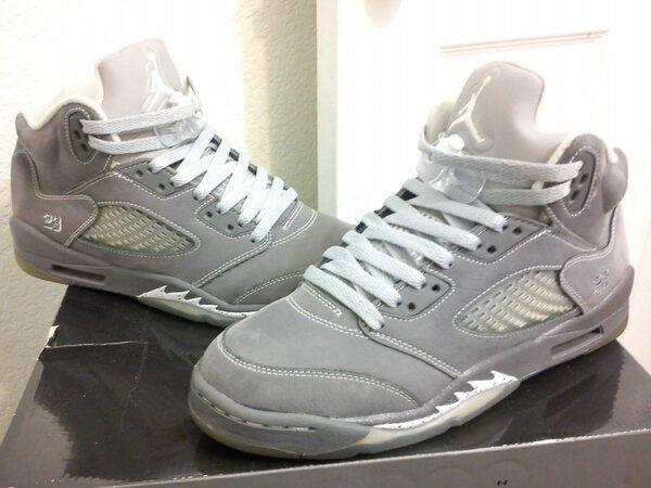 [#SneakerHead] #Nike Air Jordan V 5 Retro Wolf Grey Graphite Authentic #Sneakers