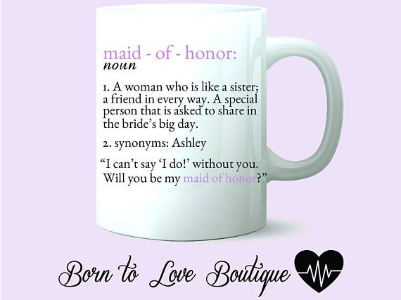 Synonym for maid of honor