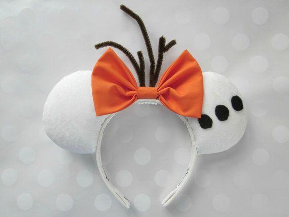 Olaf Inspired Mouse Ears Headband Custom Ears par EarsComeTrue
