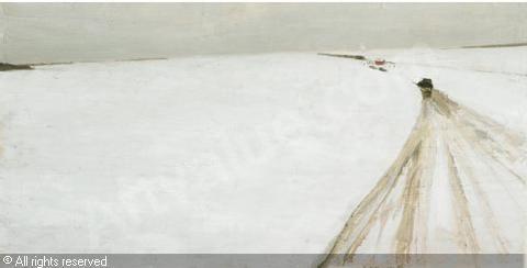 Jean-Paul Lemieux Art Prints | LEMIEUX Jean-Paul,L'HEURE DU TRAIN,Joyner,Toronto